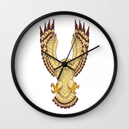 Osprey Swooping Motion Front Drawing Wall Clock