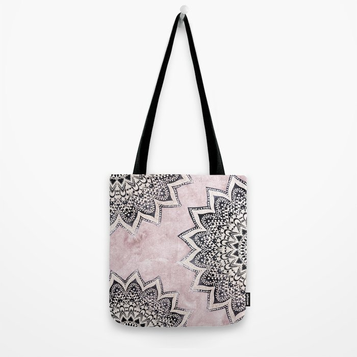 ROSE BOHO NIGHTS MANDALAS Tote Bag