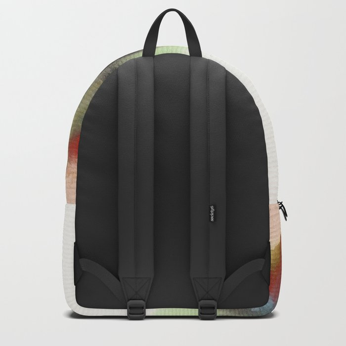 Watercolor abstract landscape 12 Backpack