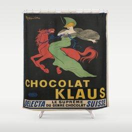 Vintage poster - Chocolat Klaus Shower Curtain