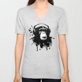Monkey Business - Black Unisex V-Neck
