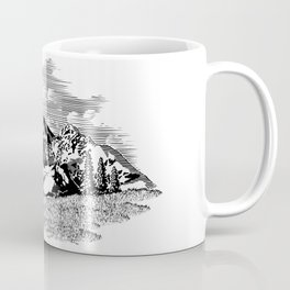 Mountain Elk Scene Coffee Mug