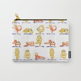 Sloth Yoga Watercolor Carry-All Pouch