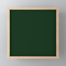 Simply Pine Green Framed Mini Art Print