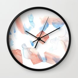 180527 Abstract Watercolour 11 | Watercolor Brush Strokes Wall Clock