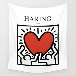 Haring - Heart Wall Tapestry