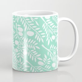 Mint Olive Branches Coffee Mug