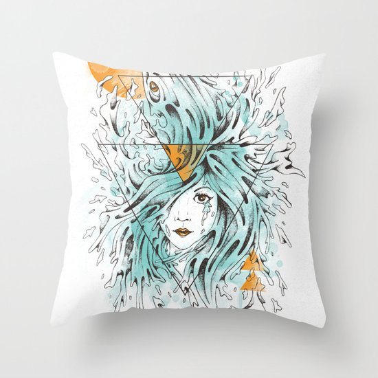 ariel 2.0 Throw Pillow