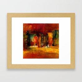red town Framed Art Print