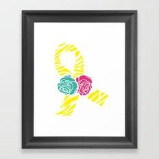 Endometriosis Ribbon 2 Framed Art Print