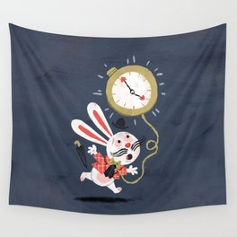 White Rabbit - Alice in Wonderland Wall Tapestry