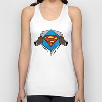 superman Tank Tops featuring Superman  by Wave Sports