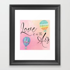 Love is in the Air - Watercolor Hot Air Balloons Framed Art Print