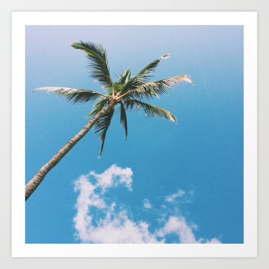 Clouds and Palms  Art Print