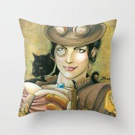 Lady Smog Throw Pillow
