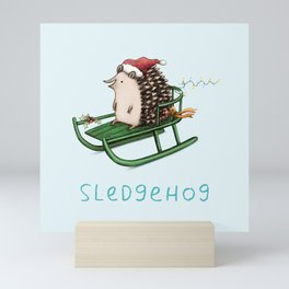 Sledgehog Mini Art Print