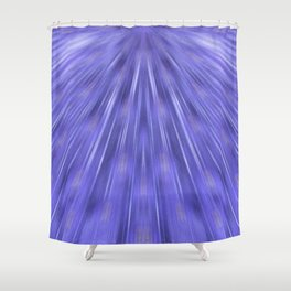 Peacock's feather-violet Shower Curtain