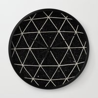 paint Wall Clocks featuring Geodesic by Terry Fan