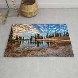 Mornings in the Crested Butte Colorado Mountains   Rug