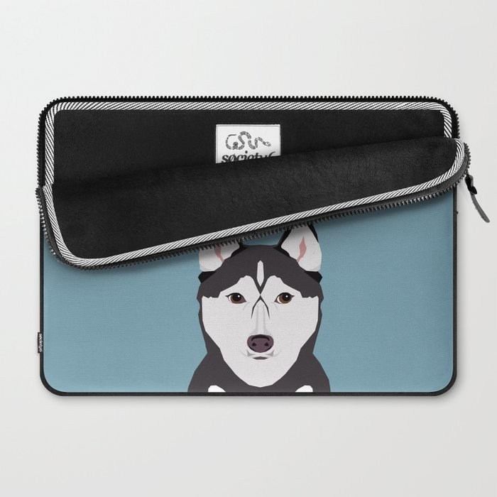 Shiloh - Husky Siberian Husky dog art phone case perfect gift for dog people Laptop Sleeve