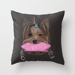 I love my Yorky Throw Pillow