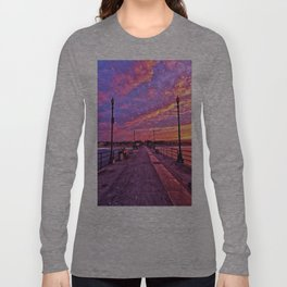 Sunrise Huntington Beach Pier   11/12/13 Long Sleeve T-shirt