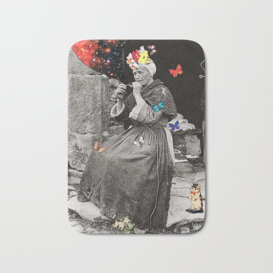 Smoking Woman Bath Mat