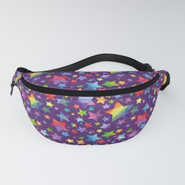 Rainbow Star Pattern on Purple Fanny Pack