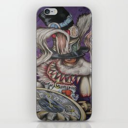 mad hatter your late .... iPhone Skin