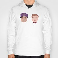 the grand budapest hotel Hoodies featuring Gustave & Zero - Grand Budapest Hotel by InQuadricromia