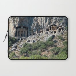 Carved Rock Tombs at Dalyan Laptop Sleeve