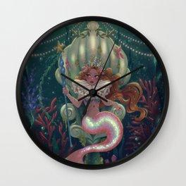 Mermaid Queen Wall Clock