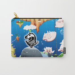 Some pigs fly in the rain Carry-All Pouch