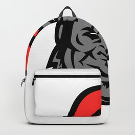 Gorilla Wearing Cap Mascot Backpack