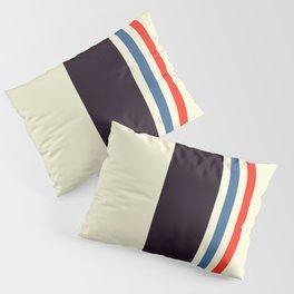 Classic Minimal Racing Car Retro Stripes - Furaribi Pillow Sham
