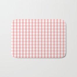 Large Lush Blush Pink and White Gingham Check Bath Mat