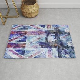 London Tower Bridge Mixed Media Art Rug