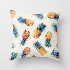 Pineapples + Crystals  Throw Pillow