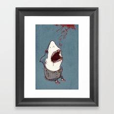 Shark Bites Framed Art Print
