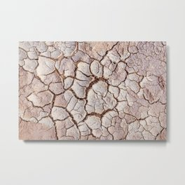 Cracked Dirt Metal Print