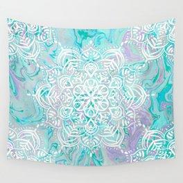 Marble Mandala Twist VI Wall Tapestry