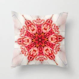 rising red star Throw Pillow
