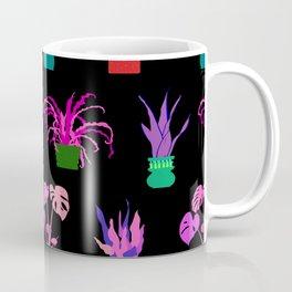 Simple Potted Plants in Black Coffee Mug