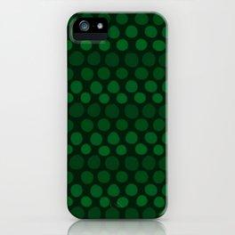 Emerald Green Subtle Gradient Dots iPhone Case