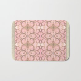 Moroccan Scroll Swirl Modern Pattern in Pink and Cocoa Bath Mat