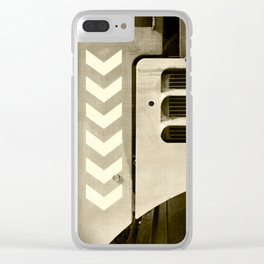 Road Roller Chevron 05 - Industrial Abstract Clear iPhone Case