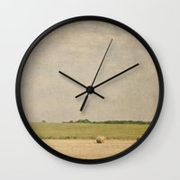 farm Wall Clocks featuring Farm by Pure Nature Photos