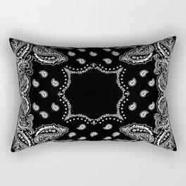 Bandana Black & White Rectangular Pillow