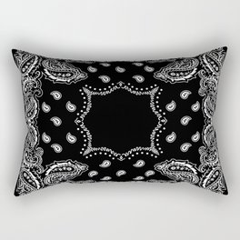 Bandana Black & White Rectangular Pillow