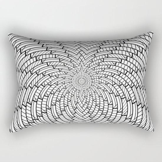 sweeping black and white 3 Rectangular Pillow